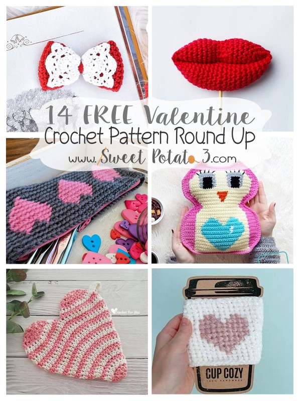 You are currently viewing 14 Free Valentine's Crochet Pattern Round Up