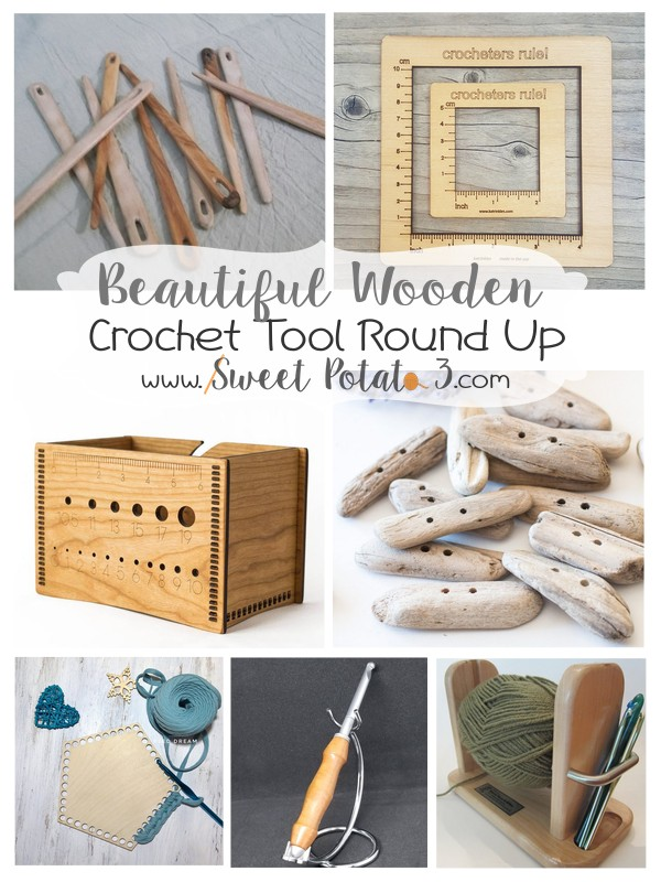 Wooden crochet tools