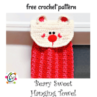 Beary Sweet Hanging Towel  by Snappy Tots