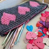 Tapestry Heart Pencil Case Pattern by Sincerely Pam
