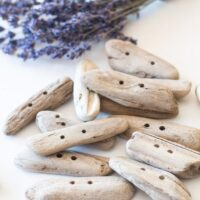 Set of 6 Raw Driftwood Buttons by Sustain My Craft Habit
