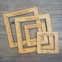 Gauge Swatch Measurement Ruler by Katrinkles