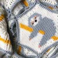Sloth Blanket Crochet Pattern by The Almond Snug