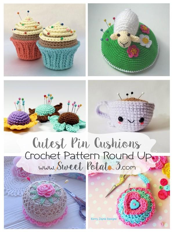 Pin Cushions Crochet Pattern Round Up