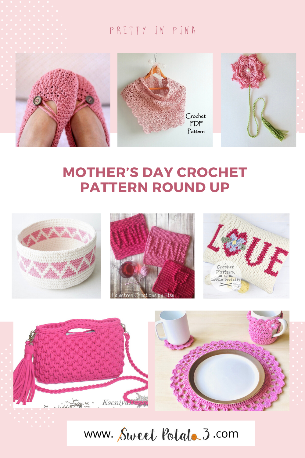 You are currently viewing Mother's Day Pretty in Pink Crochet Pattern Round Up