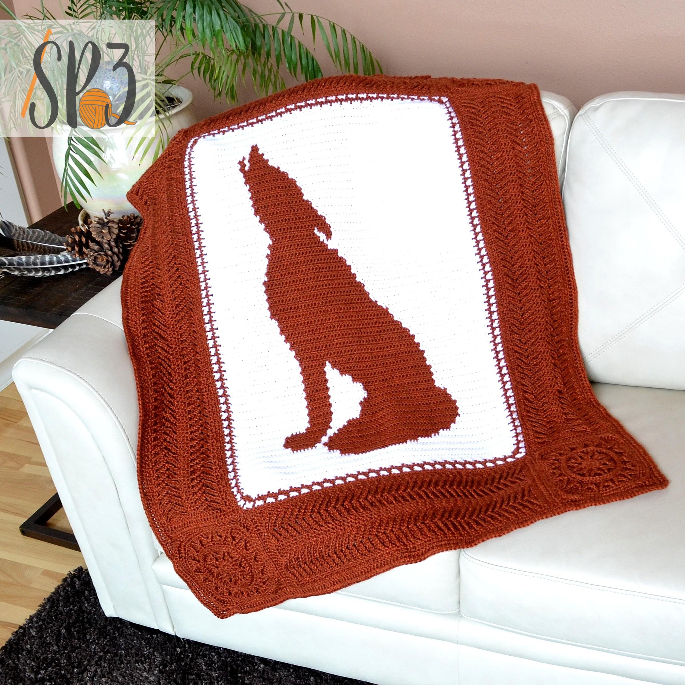 Howling Wolf Blanket – Crochet Pattern