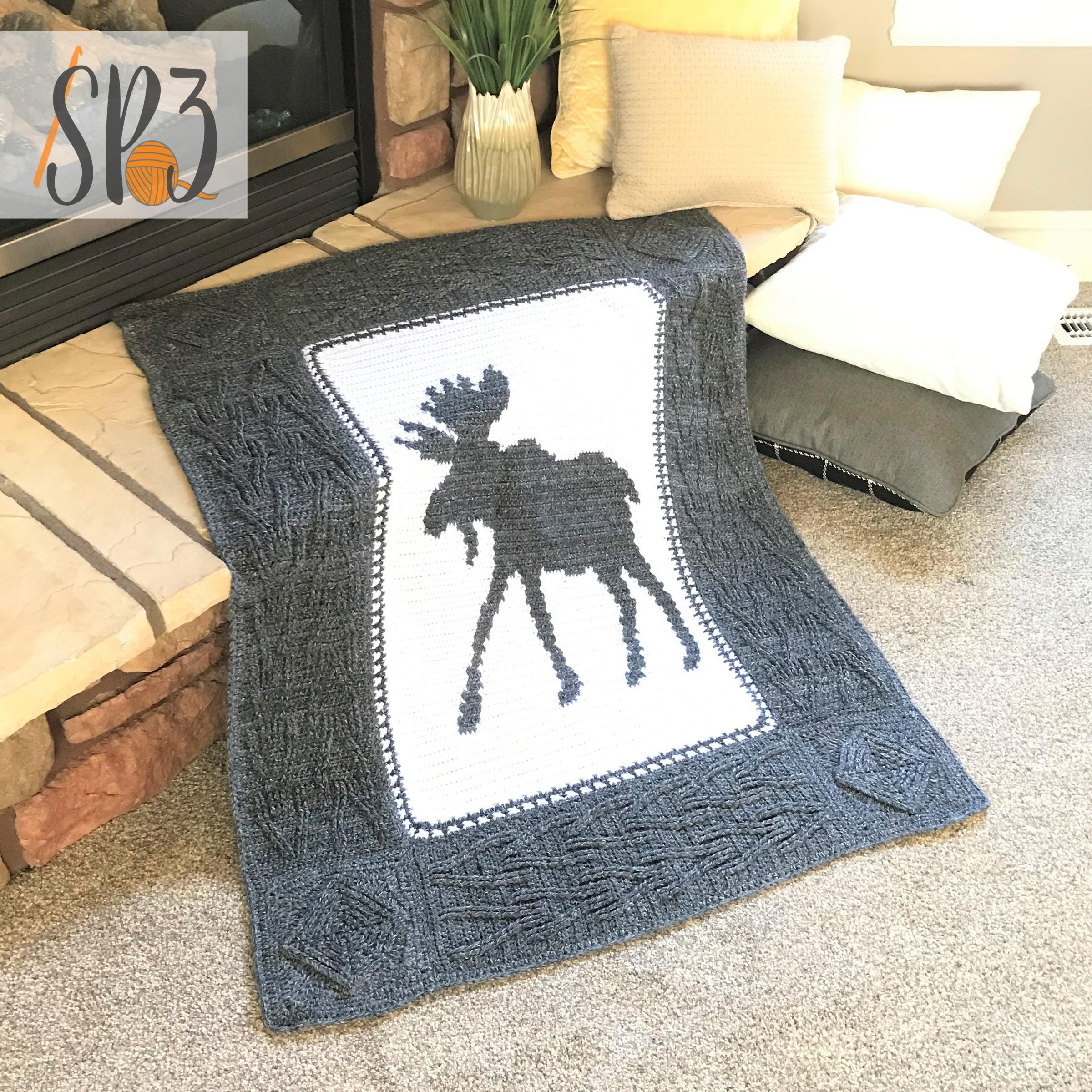 Wandering Moose Blanket – Crochet Pattern