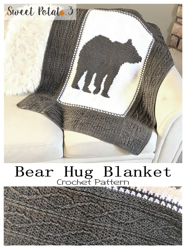 bear hug crochet blanket pattern
