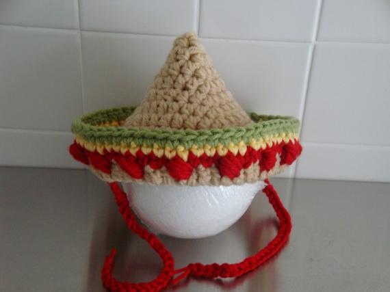 Baby Mexican Sombrero Hat by Jan's Crochet Boutique