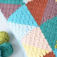 FREE Pastel Triangles Pillow - by Lilla Bjorn Crochet