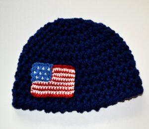 American Flag Newborn hat