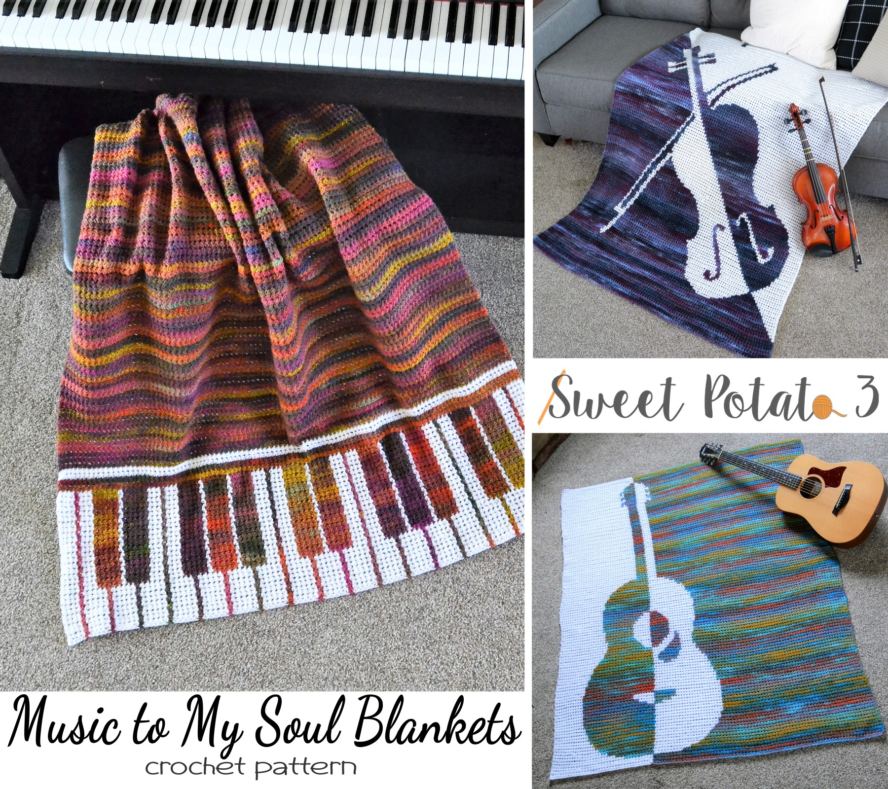 Music To My Soul Crochet Blanket Pattern – Ebook