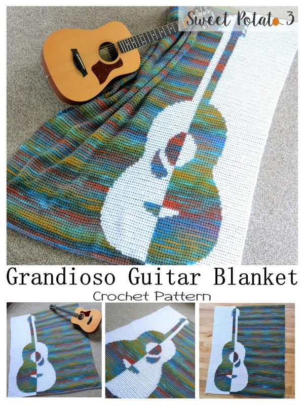 Grandioso Guitar Crochet Blanket Pattern