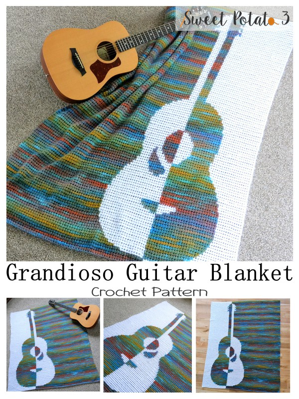 You are currently viewing Grandioso Guitar Crochet Blanket Pattern