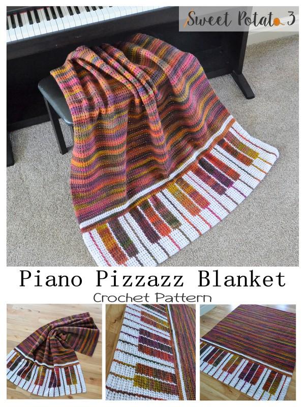 Piano Pizzazz Crochet Blanket Pattern