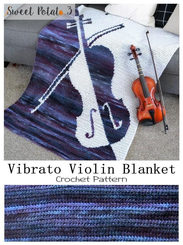 Vibrato Violin Crochet Blanket Pattern