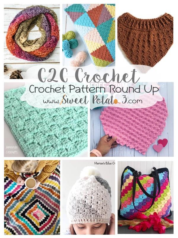 Practice your C2C Crochet Skills – FREE Pattern Round Up