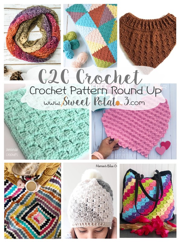 You are currently viewing Practice your C2C Crochet Skills – FREE Pattern Round Up