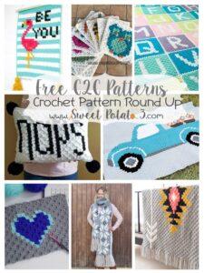 C2C Crochet Graphs – FREE Pattern Round Up