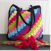 FREE C2C Crochet Tote Pattern - by The Purple Poncho