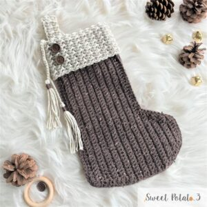 Joyeux Noel Christmas Stocking Crochet Pattern