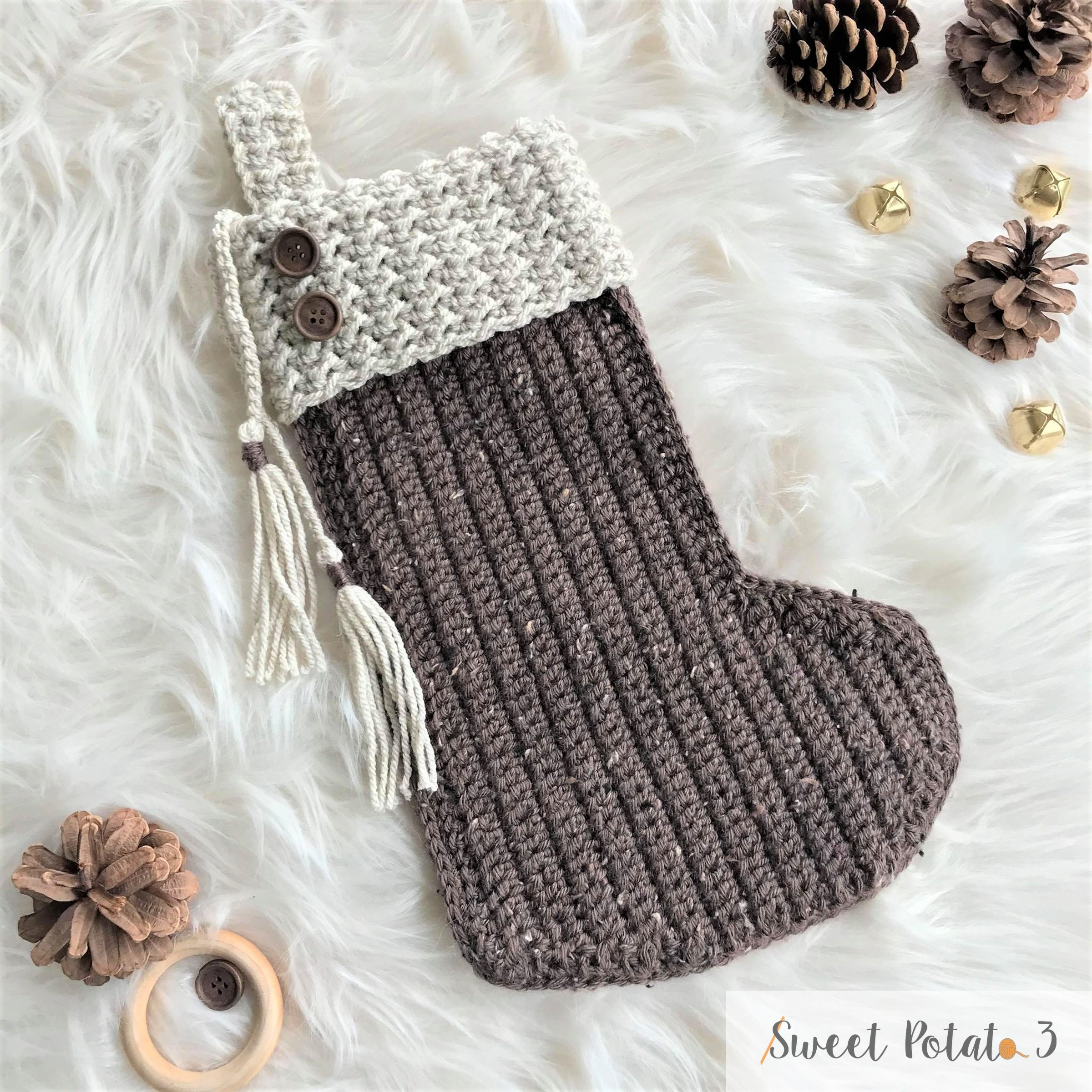 Joyeux Noel Christmas Stocking Crochet Pattern