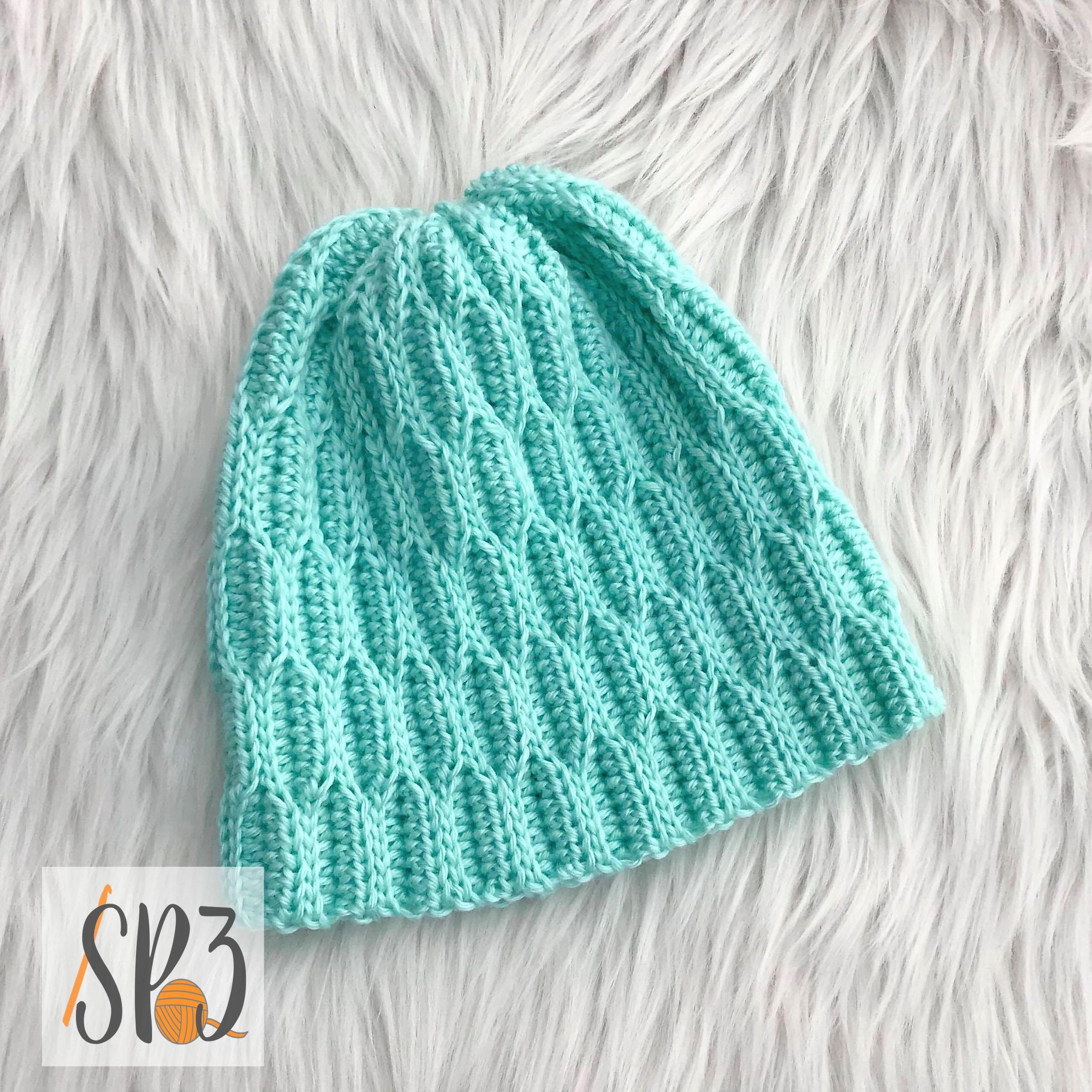 Waves of Hope Hat – Crochet Pattern