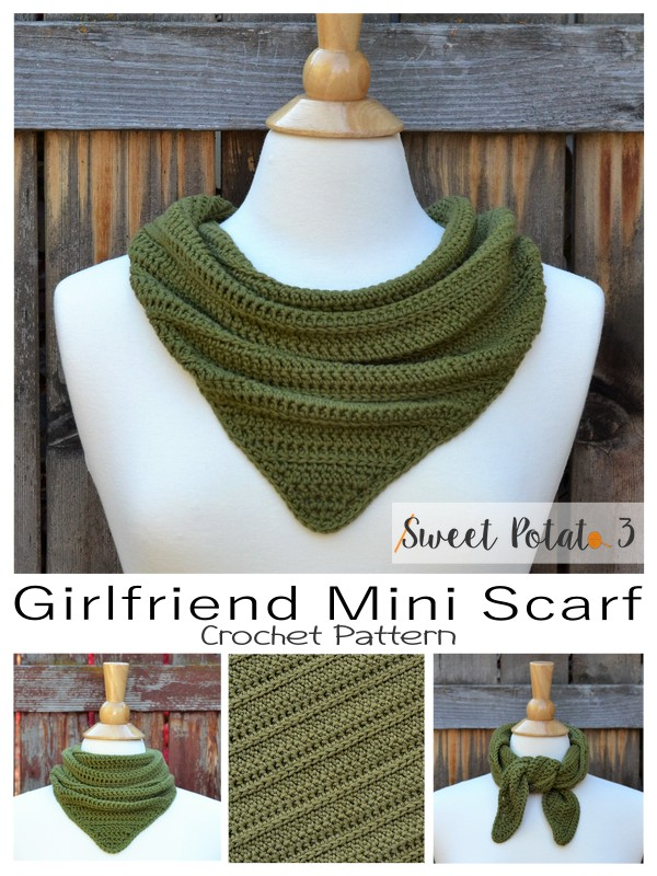 Girlfriend Mini Scarf Crochet Pattern
