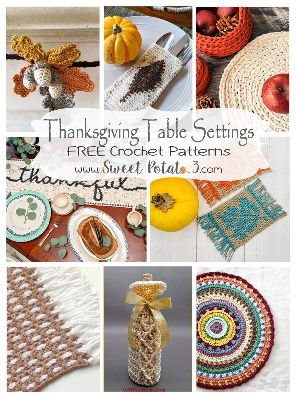 Thanksgiving Table Setting Crochet Patterns