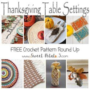 Free Thanksgiving Table Setting Crochet Patterns