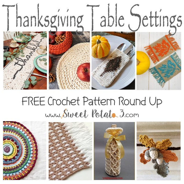 Free Thanksgiving Table Setting Crochet Patterns