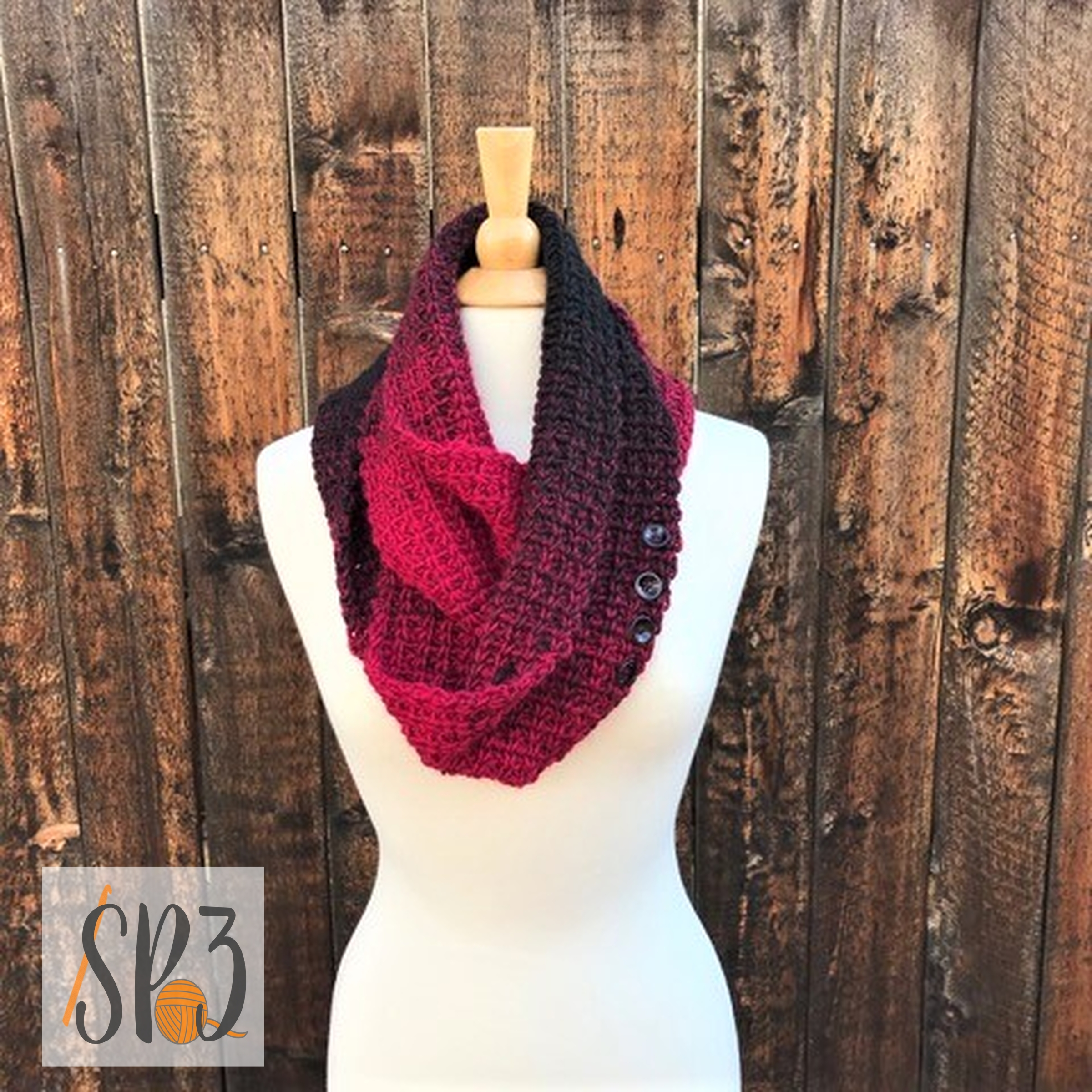 Winter Tracks Scarf / Cowl – Crochet Pattern