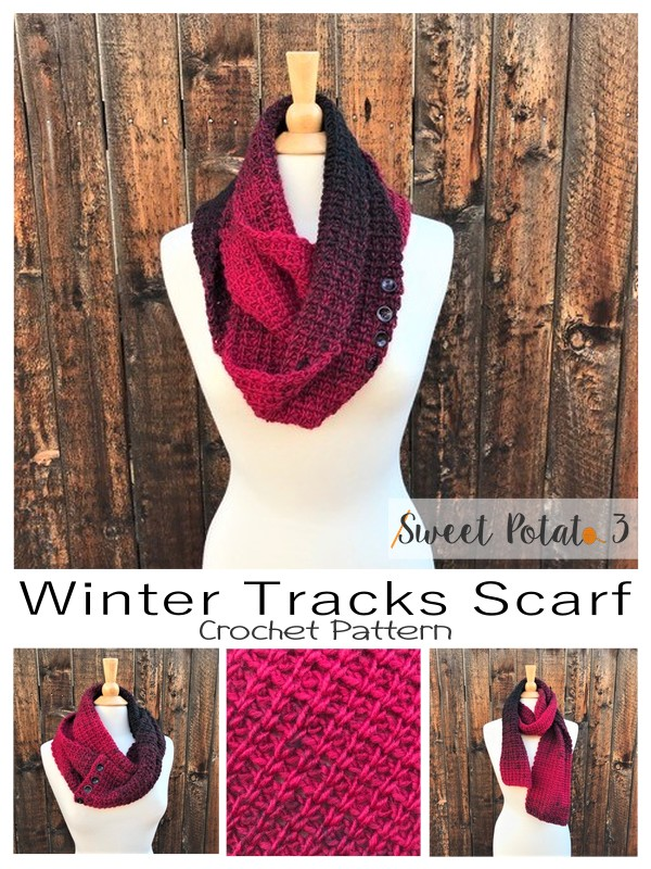 Winter Tracks Scarf