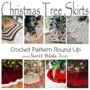 Christmas Tree Skirt Crochet Pattern Round Up