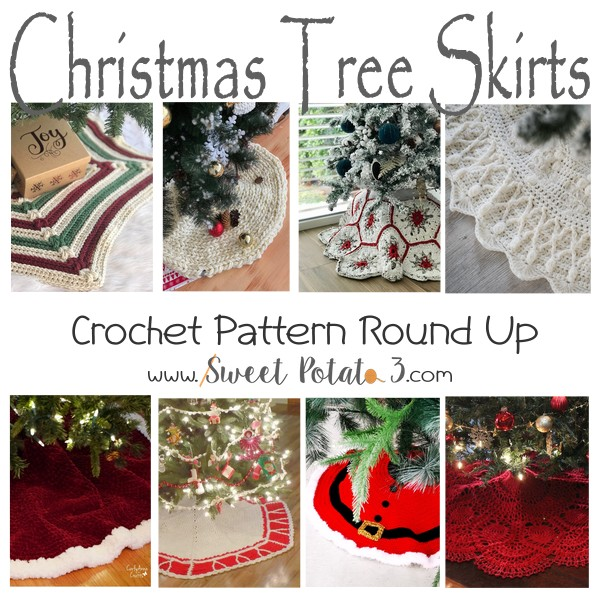 You are currently viewing Christmas Tree Skirt Crochet Pattern Round Up