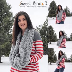 Read more about the article Hidden Pocket Cowl – Crochet Pattern