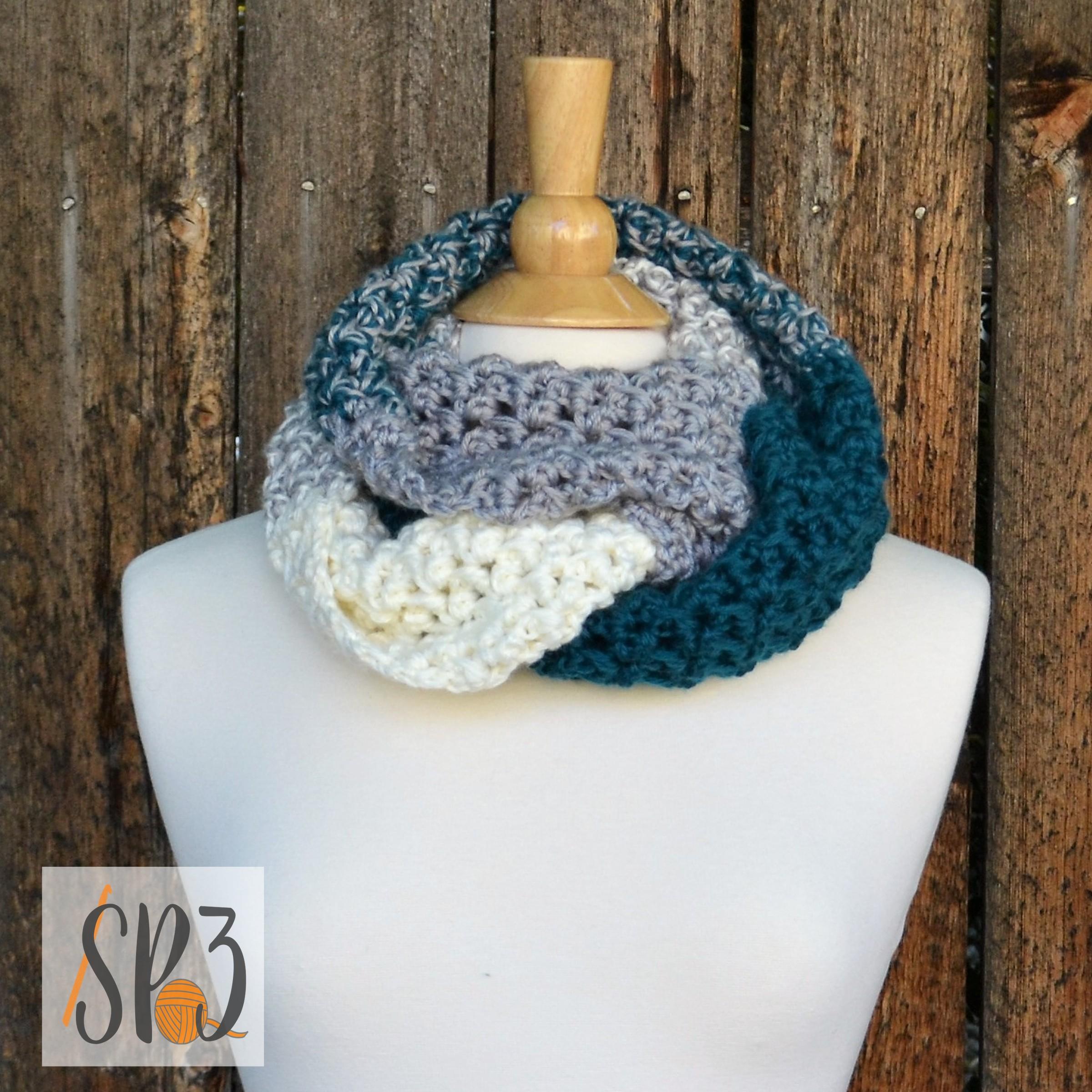 Herringbone Knotted Cowl & Ear Warmer Crochet Pattern