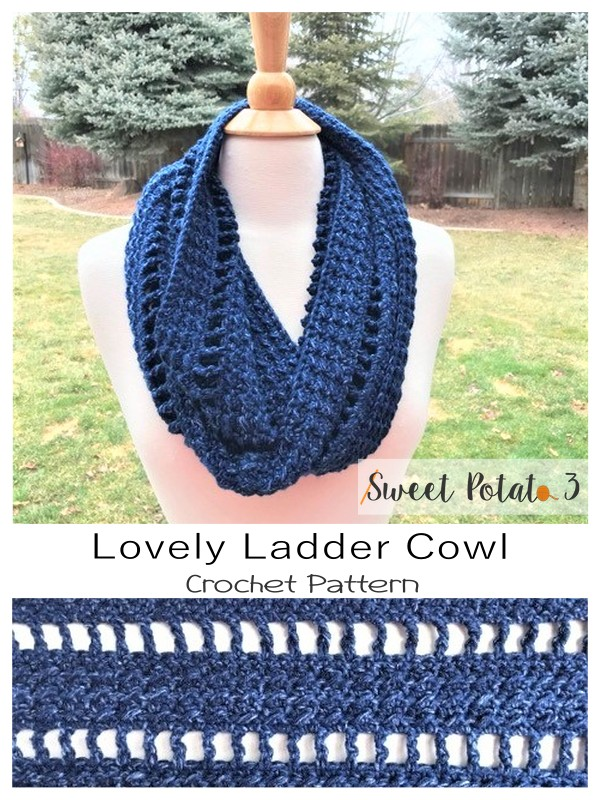 Lovely Ladder Cowl Crochet Pattern