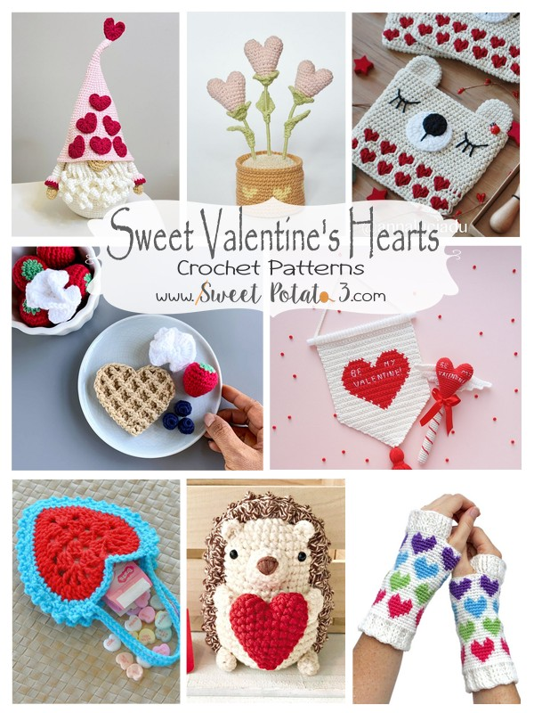 Sweet Valentine's Heart Crochet Patterns