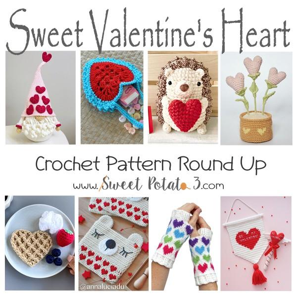 Sweet Valentine's Heart Crochet Pattern Round Up