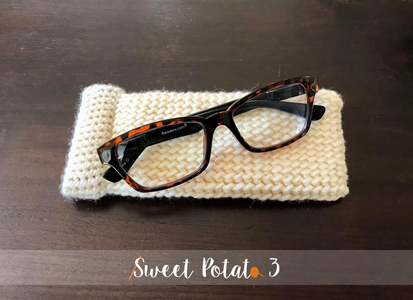 Snap Closure Glasses Case – Free Crochet Pattern