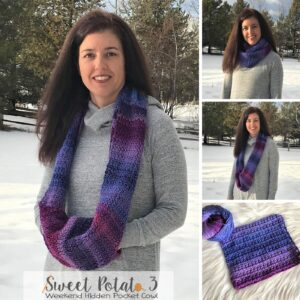 Read more about the article Weekend Hidden Pocket Cowl – Crochet Pattern