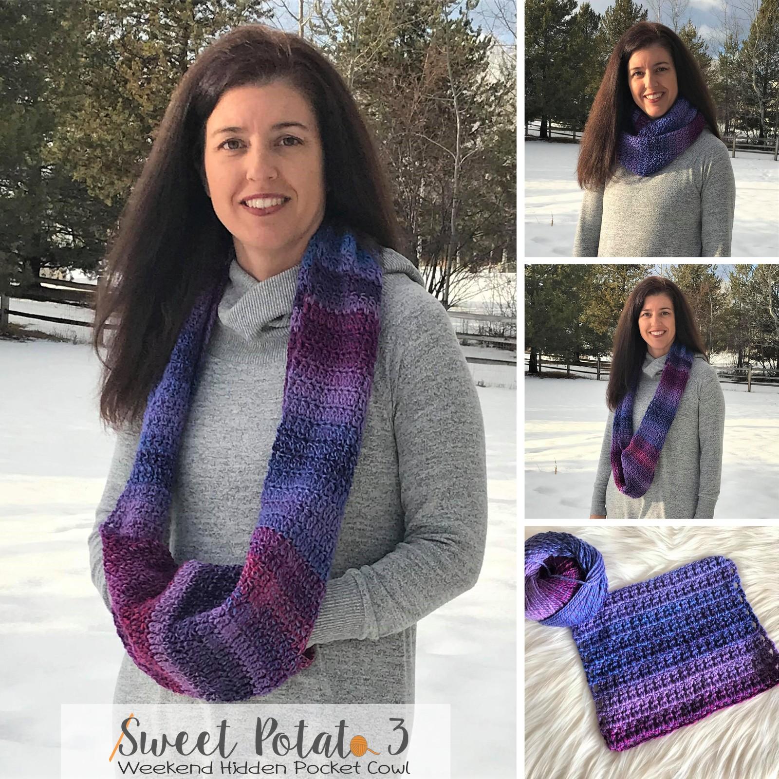 Weekend Hidden Pocket Cowl – Crochet Pattern
