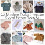 Modern Baby Sweater Crochet Pattern Round Up