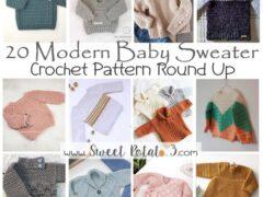modern baby sweater