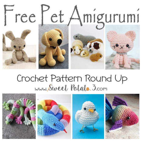 You are currently viewing Free Pet Amigurumi Crochet Pattern Round Up