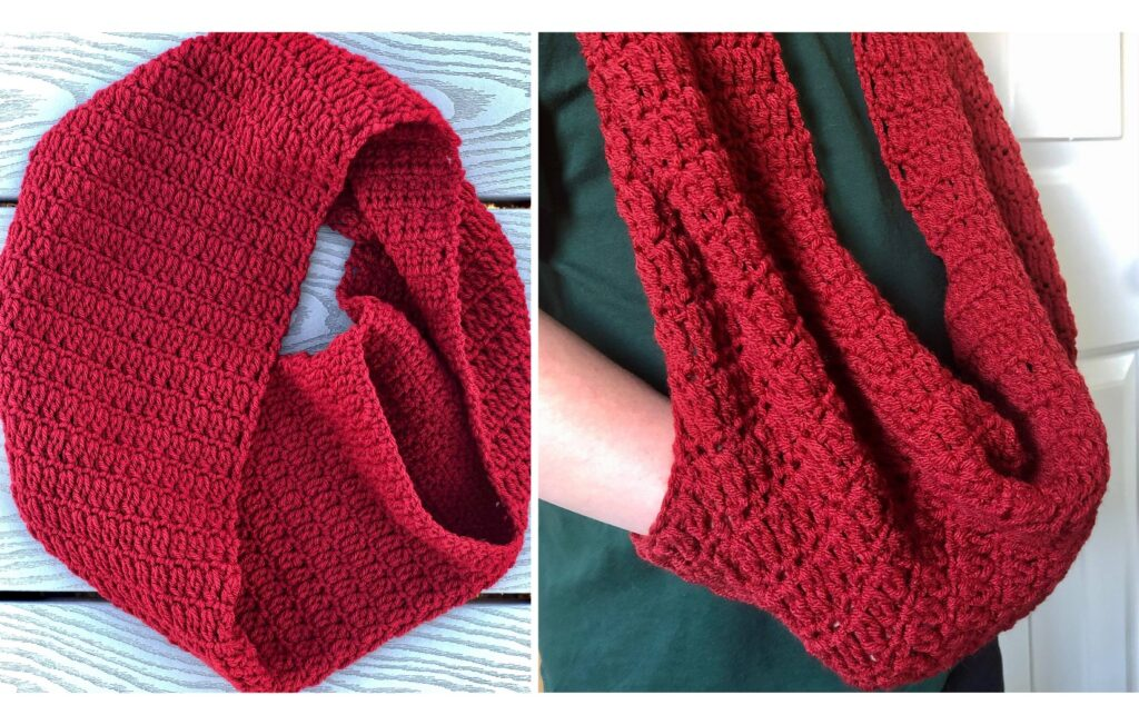 Weekend Hidden Pocket Scarf Sample made by Martha