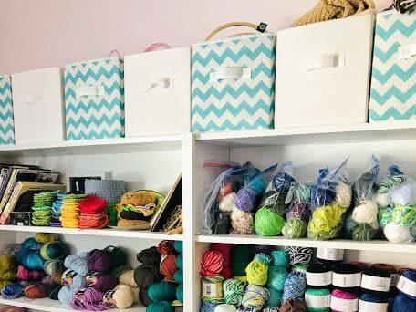 Craft Room yarn Storage