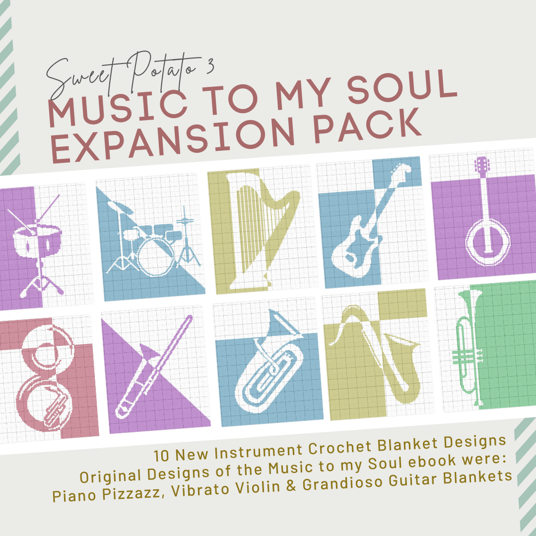 You are currently viewing Music To My Soul Expansion Pack – 10 Crochet Blanket Patterns