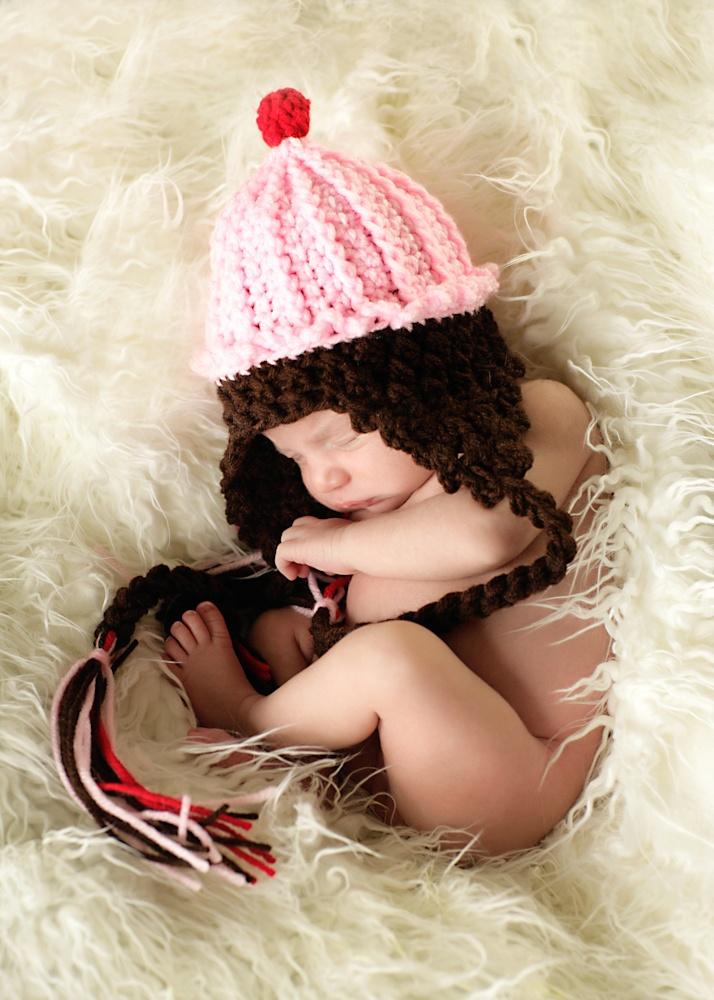 Free Ice Cream Cone Crochet Hat Pattern